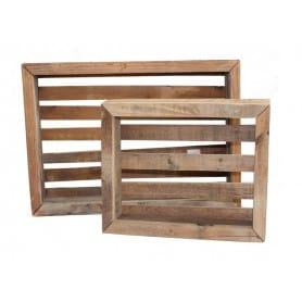Set de 2 caisses en bois Zafa