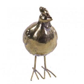 Poule en métal doré Premani