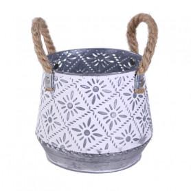 Pot de fleurs zinc avec...