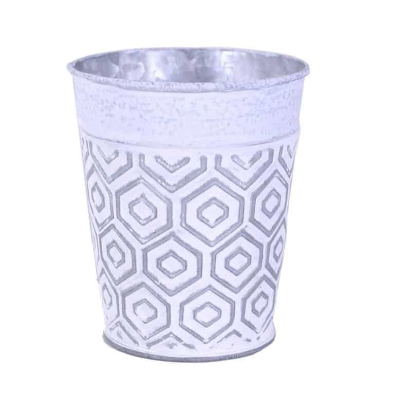 Cache-pot en zinc Geomitro - Grossiste fleuriste Renaud