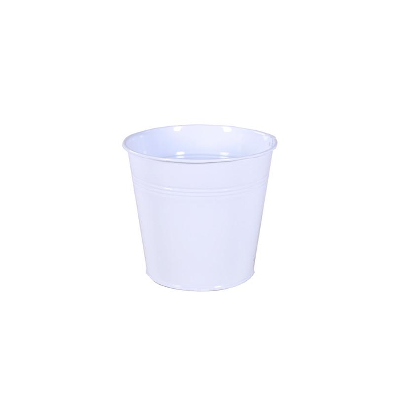 Pot rond zinc Acidus - fournisseur fleuriste
