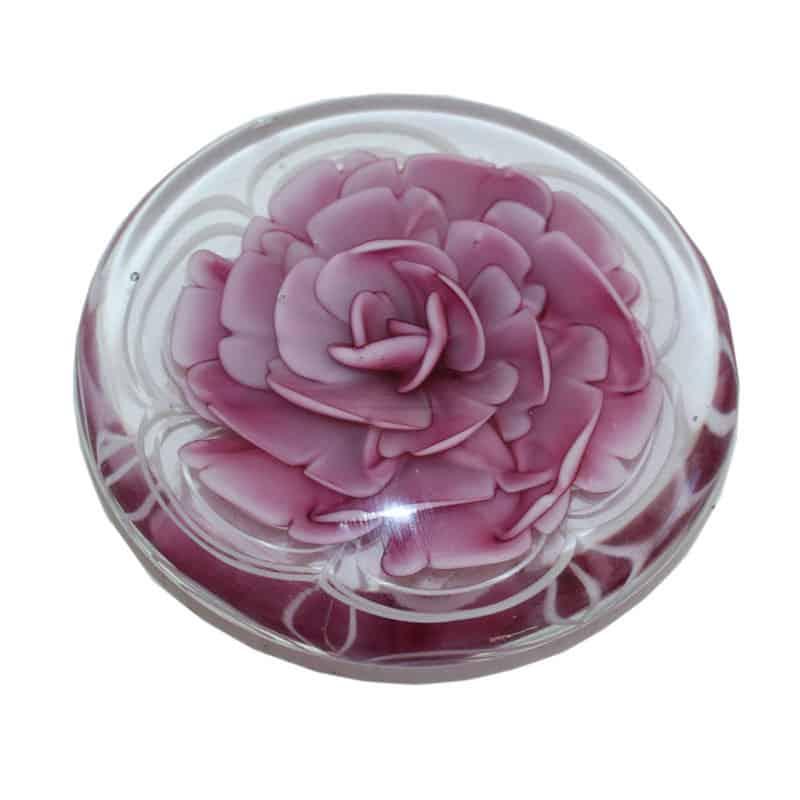Décoration galet fleurs en verre Elmo - Matériel fleuriste