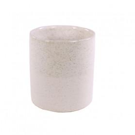 Pot cylindrique blanc nacré...