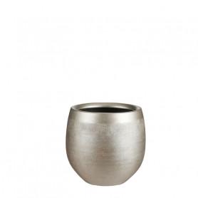 Pot rond en céramique doré...