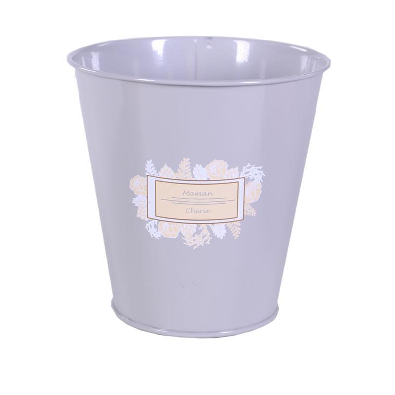 Cache-pot en zinc Maman chérie  - Matériel fleuriste