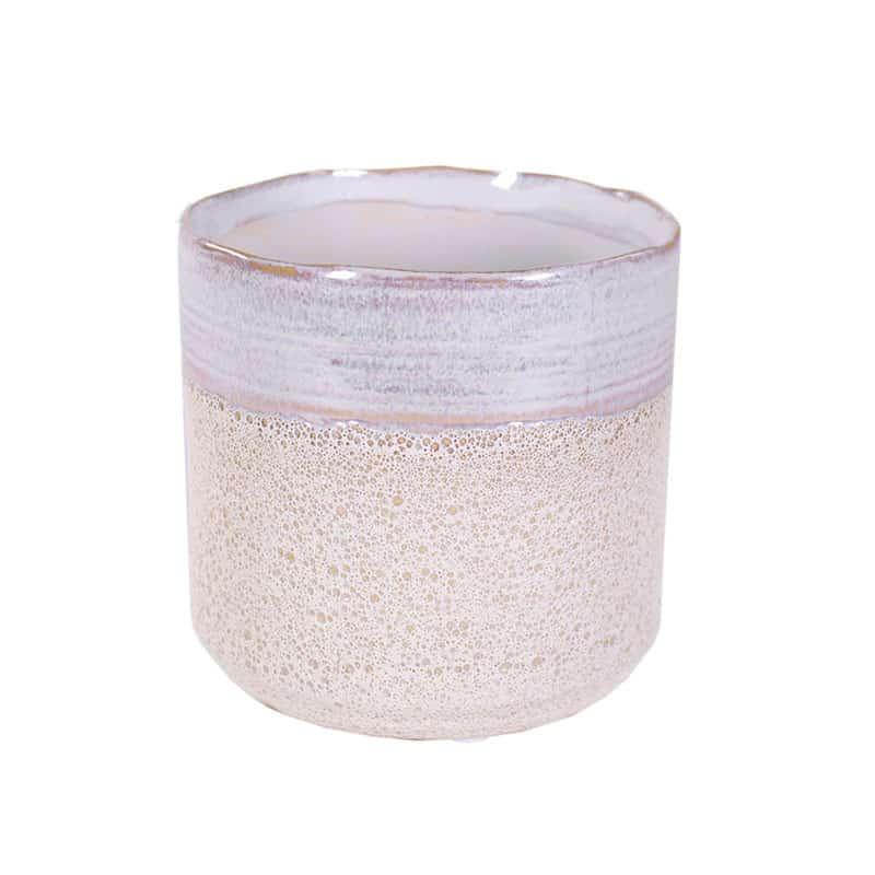 Cache-pot rond en céramique effet dentelle Produ - Matériel fleuriste