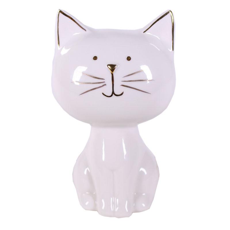 Figurine décorative chat en porcelaine Boyta - Matériel fleuriste
