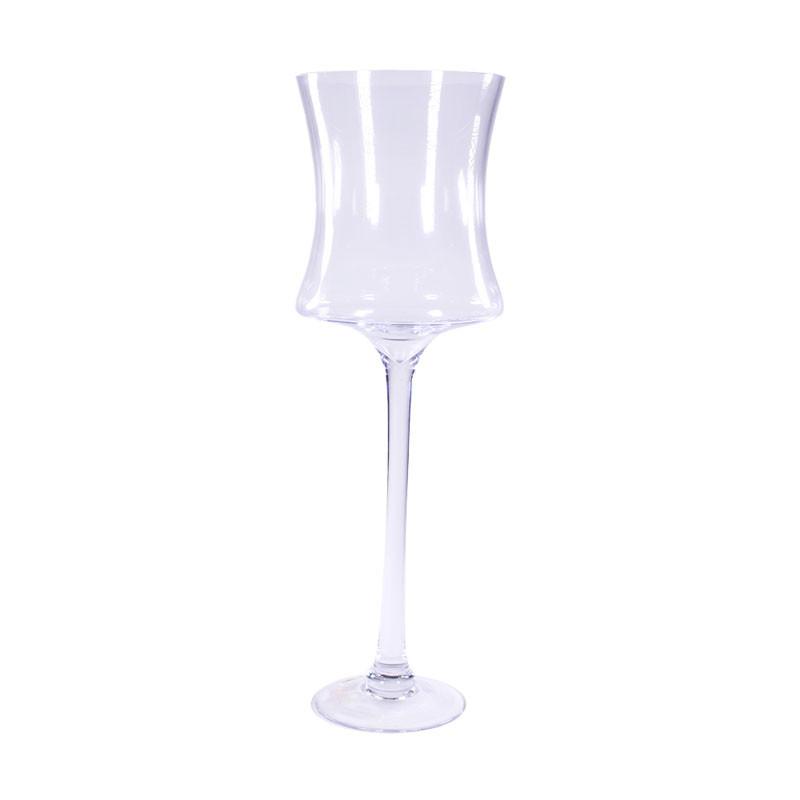 Vase haut en verre sur pied Genesy - Matériel fleuriste