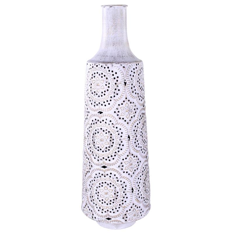 Vase en céramique motif dentelle Jake - Matériel fleuriste
