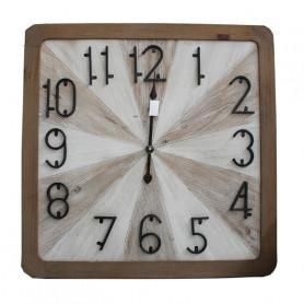 Horloge carrée en bois Bosa