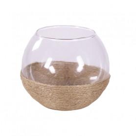 Vase boule en verre détail...