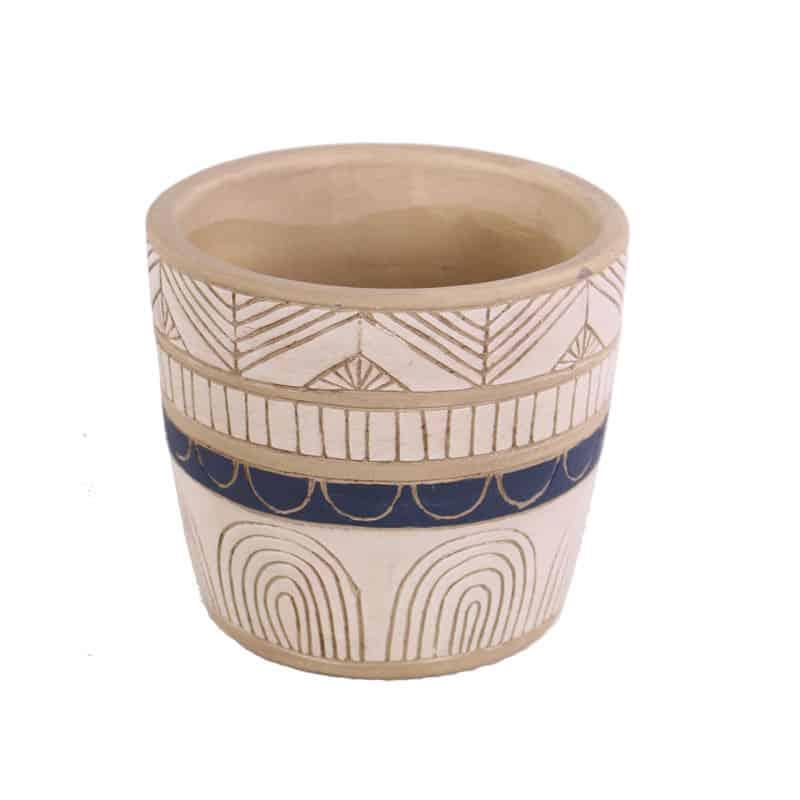 Pot de fleurs rond en céramique Ethenu - Matériel fleuriste
