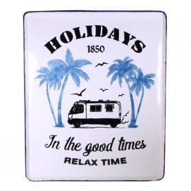 Tableau en métal Holidays