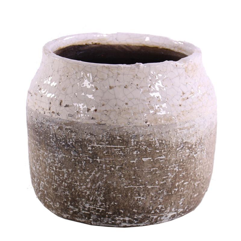 Cache-pot en céramique chamote Severo - Matériel fleuriste