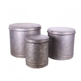 Set de 3 boites en métal...
