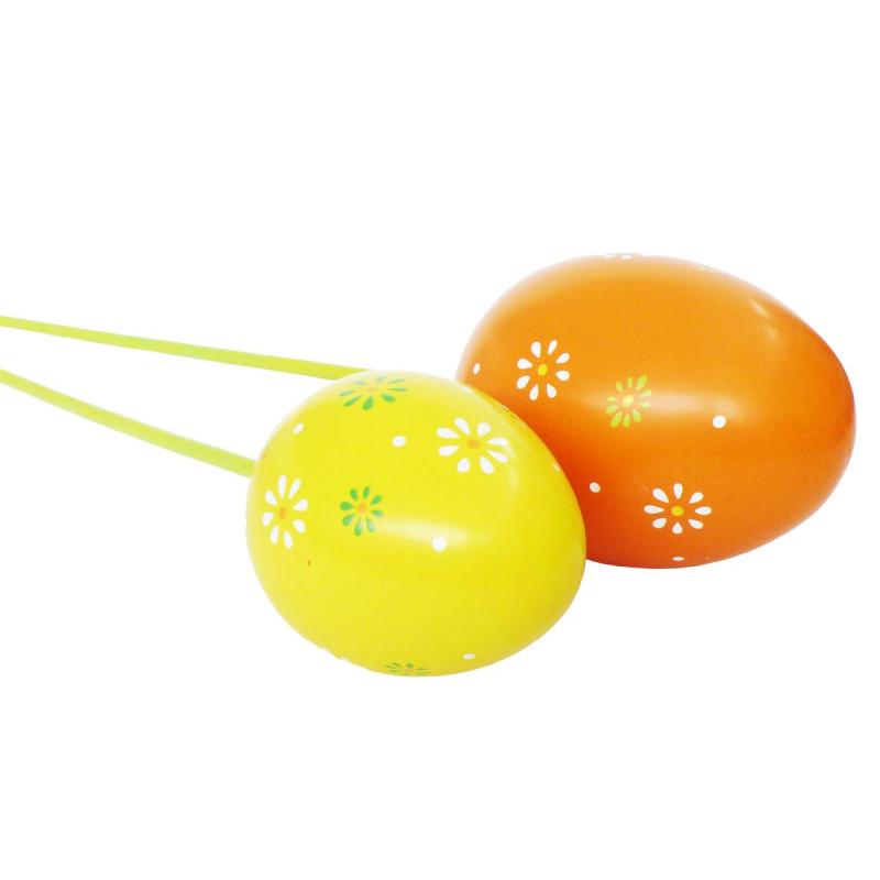 Oeufs en plastique sur pics Souty - Matériel fleuriste