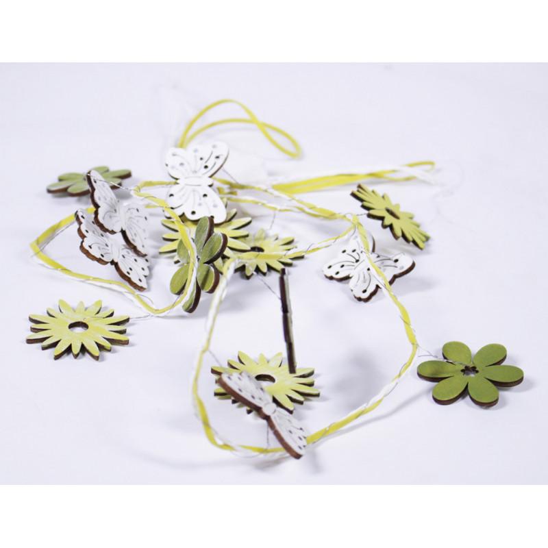 Guirlande papillons et fleurs Poitra - Matériel décoration fleuriste