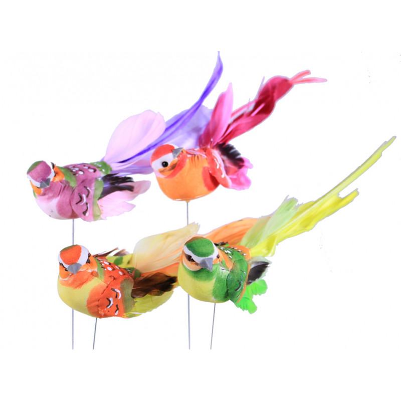 Oiseaux multicolores sur pics Vretou - Matériel pour fleuriste