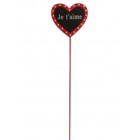 Pic ardoise cœur H. 25 cm
