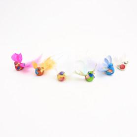 Oiseaux multicoloris à plumes Hurly - Matériel fleuriste