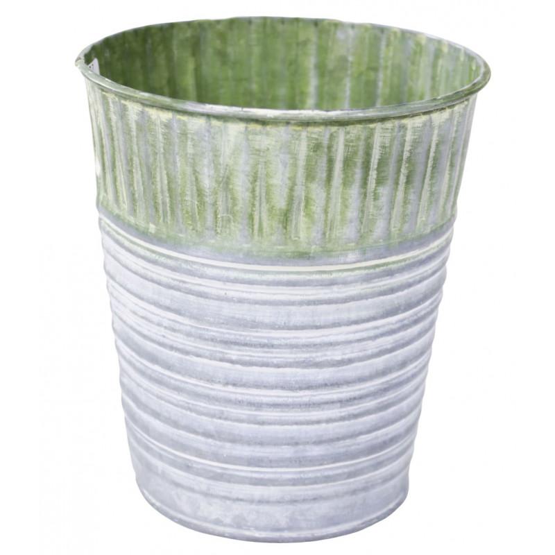 Cache-pot en zinc Delavodo - Matériel pour fleuriste