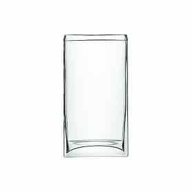 Vase rectangulaire en verre...