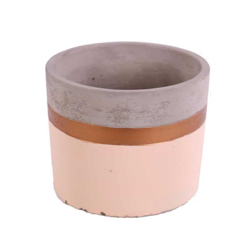Cache-pot en céramique tricolore Bikolory
