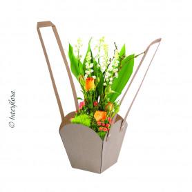 Sac en kraft naturel Visou - Matériel pour fleuriste