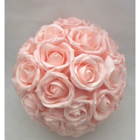 Boule de rose artificielle 30cm - grossiste fleuriste