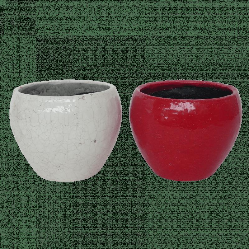 Pot en céramique format olive Rinda - grossiste fleuriste