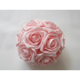 BOULE DE ROSES ROSE D25CM