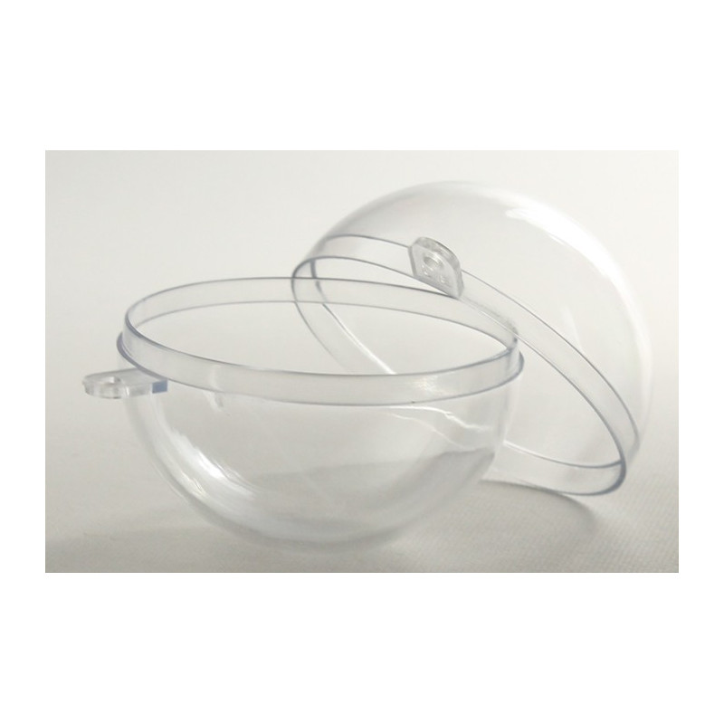 Boule plastique transparente
