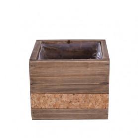 Pot carré en bois et liège...