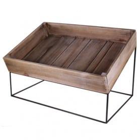 Caisse en bois sur support métal Yvnick - 2 tailles