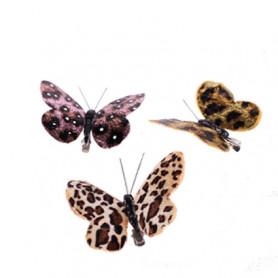 Papillons motif jungle Zafari