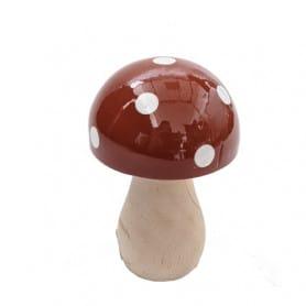 Champignon en bois chapeau à pois Airer - Matériel pour fleuriste