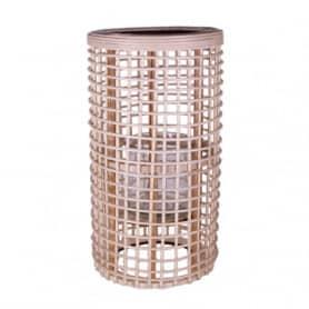 Lanterne cylindrique en rotin Norma - Matériel pour fleuriste décoration