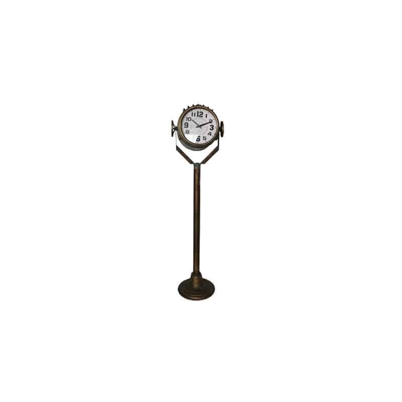 Horloge sur pied métal Joe - décoration grossiste