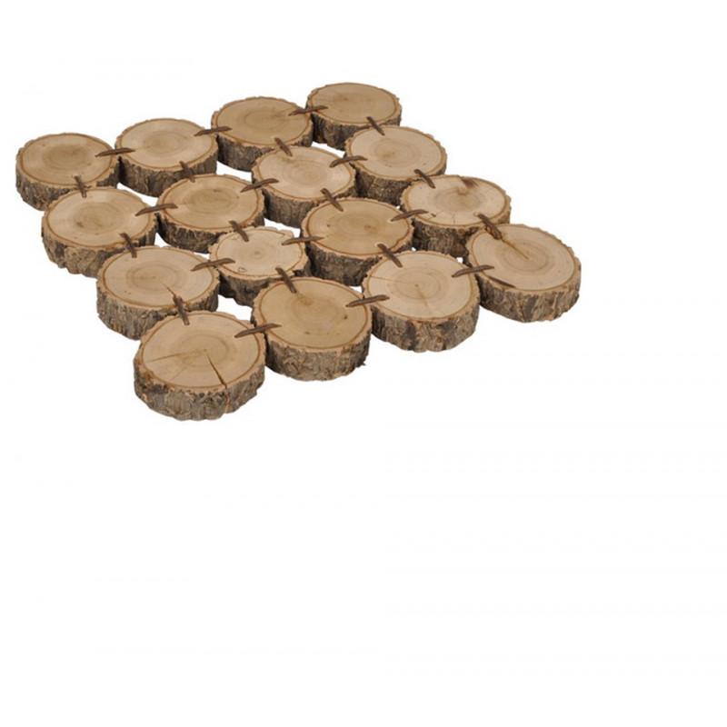 Plateau rondins de bois carré Estelle - art de la table grossiste