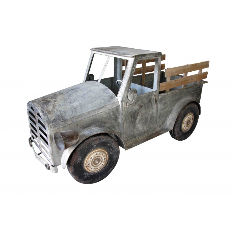Camion métal vieilli Pauline - décoration industrielle