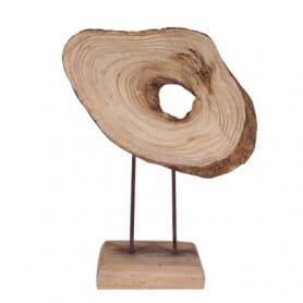 Déco rondin bois sur socle...