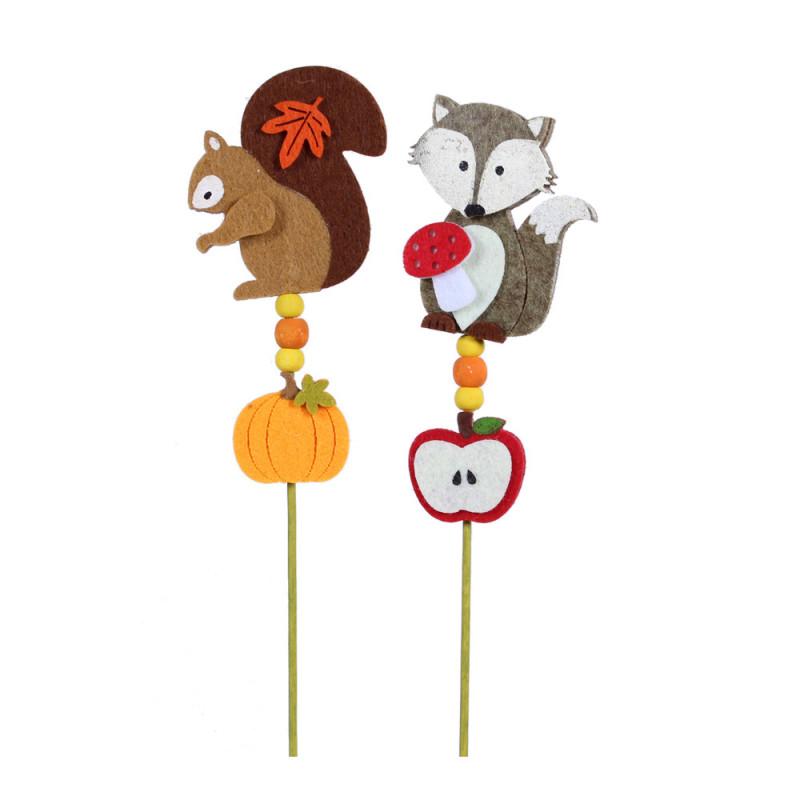Pic automne animaux Céleste - décoration fleuriste