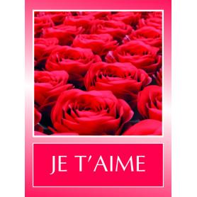 Étiquettes adhésives Je t'aime Leïla - Composition florale mariage déco