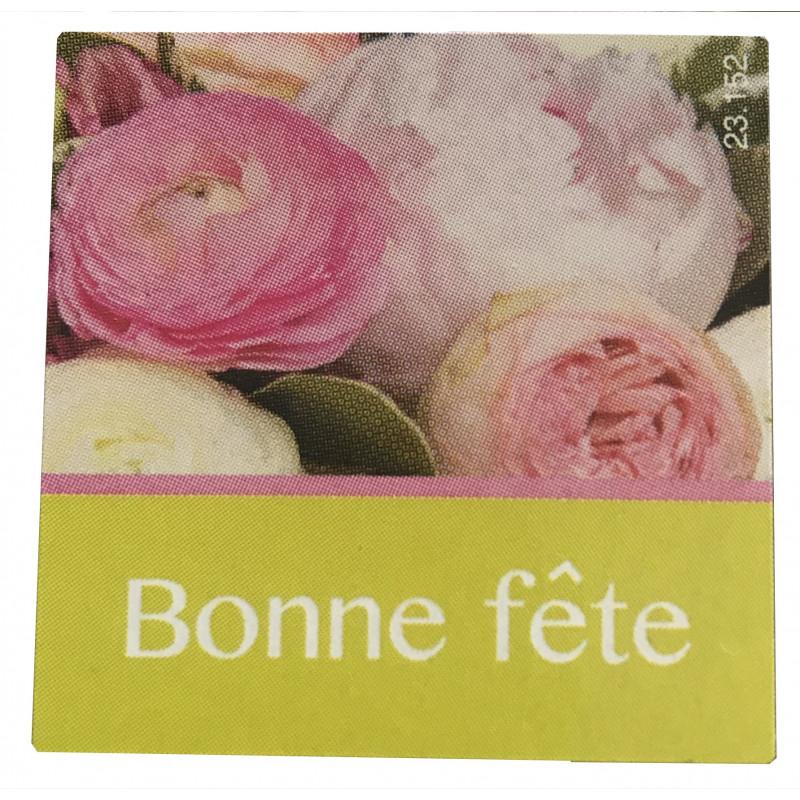 Étiquettes adhésives Bonne fête Lina - Matériel pour fleuriste décoration