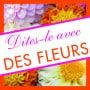 Étiquettes adhésives Dites-le avec des fleurs Lia