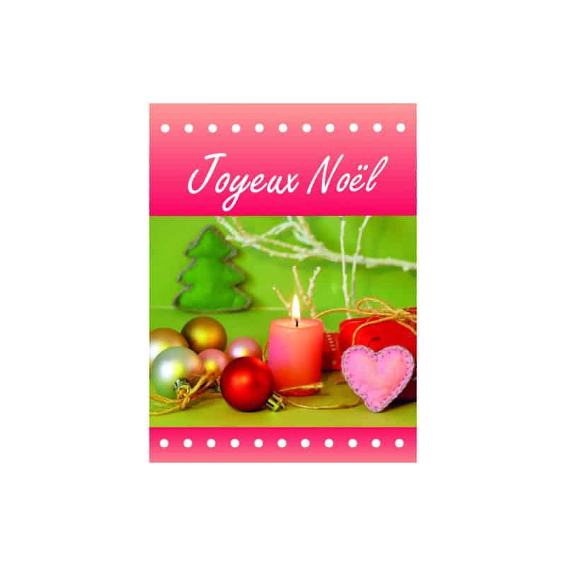 Étiquettes adhésives Joyeux Noël Larissa - Matériel pour fleuriste déco