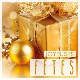 Étiquettes adhésives Joyeuses fêtes Lévana - Matériel décoration noel