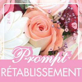 Étiquettes adhésives Prompt rétablissement Louwnea - Grossiste fleurs
