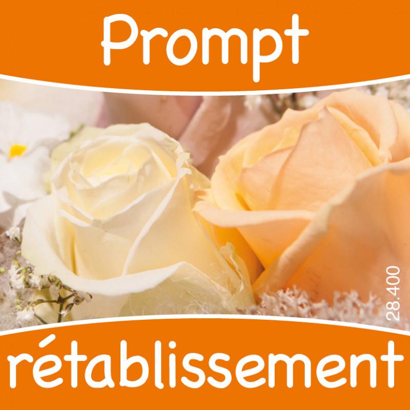 Étiquettes adhésives Prompt rétablissement Lety - Matériel fleuriste déco