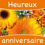 Étiquettes adhésives Heureux anniversaire Leoline